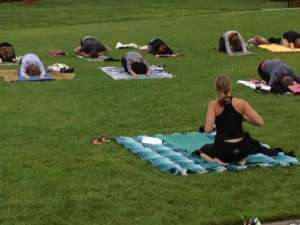 Yoga in the Park at Shakopee Derby Days